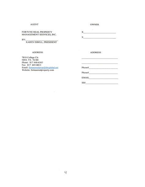 free property management forms templates property management agreement free