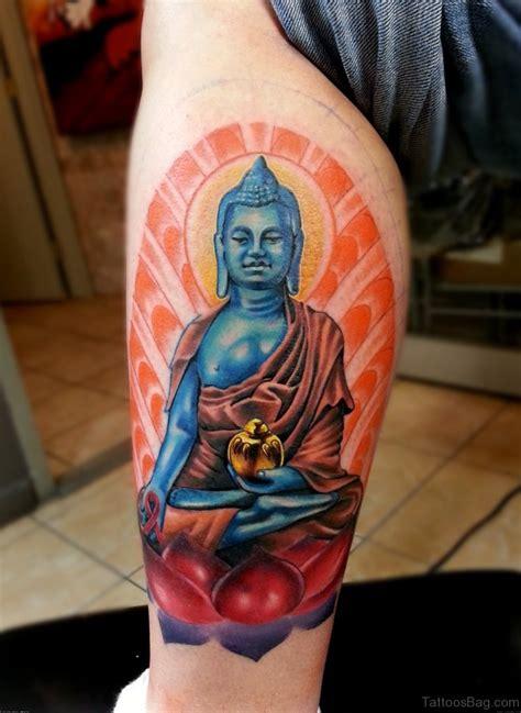 red buddha tattoo 40 buddha tattoos on leg