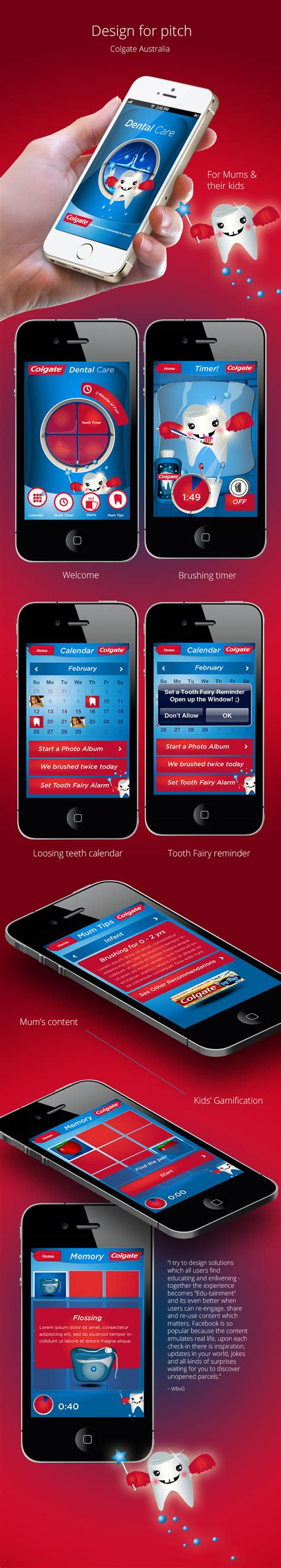 Hcd 101 Digital Ux Design colgate tooth app sendinthefox mobile experience