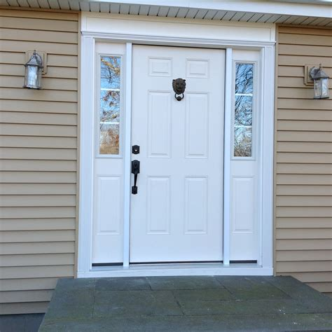New Front Door Waltham Ma New Construction Windows And Vinyl Siding Dlm Remodeling