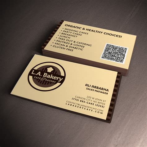 business card template for bakery business cards bakery designs choice image card design