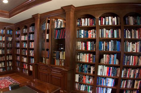 best bookshelves for home library cherry library bookcases traditional living room baltimore by a cut above inc