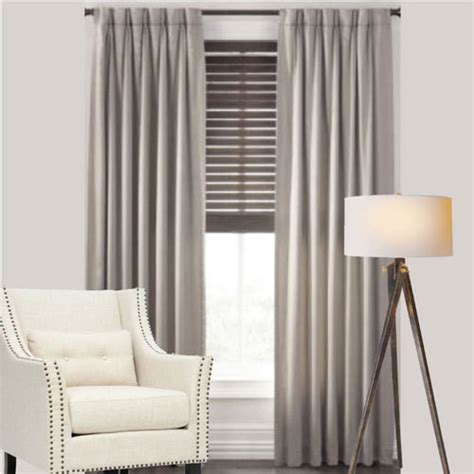 Cantina Thermal Pinch Pleat Curtains Modern Leaf Jacquard