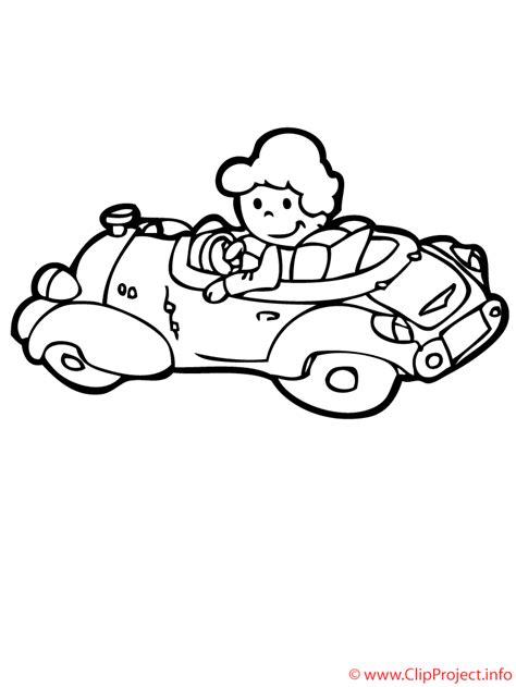 imagenes para colorear un carro hombre en el auto dibujo para colorear gratis