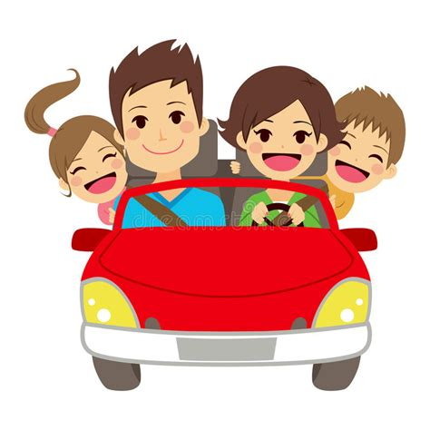 family car clipart family car stock vector illustration of children