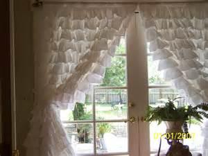 Ruffled White Curtains Pair Of Snow White Ruffled Curtains By Amberrosesgarden01