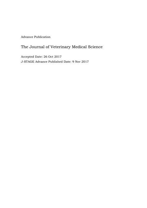 (PDF) Feline coronavirus antibody titer in cerebrospinal