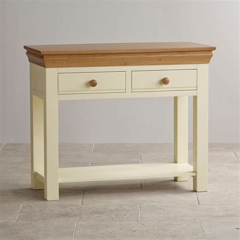 Oak Furniture Land Console Table Country Cottage Console Table In Painted Oak Oak Furniture Land