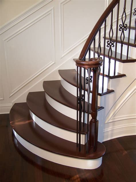 wood stair case staircase gallery arrow millwork and cabinetry