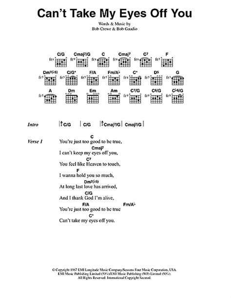 Cant Take My Eyes Off You Guitar Chords