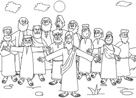 coloring pages of jesus and his disciples twelve apostles coloring page twelve apostles of jesus