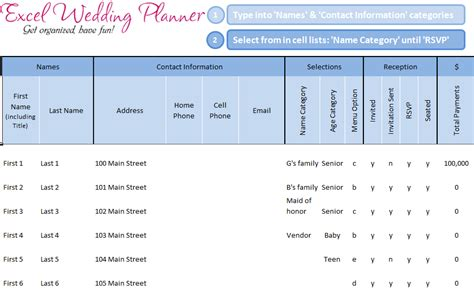 Excel Wedding Planner Template by Free Excel Wedding Planner Template Today
