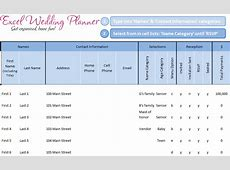 FREE Excel Wedding Planner Template - Download Today ... Excel Spreadsheet Templates Download