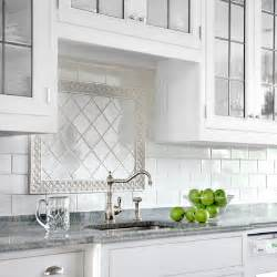 Kitchen Backsplash Subway Tile Patterns by Finishing Touches Framed Focal Point All About Ceramic