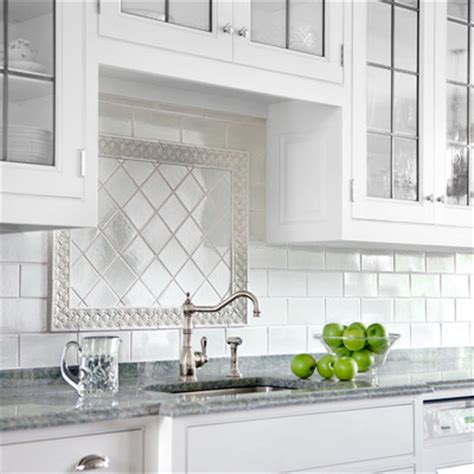 kitchen backsplash subway tile patterns finishing touches framed focal point all about ceramic