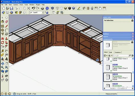 sketchup kitchen design using dynamic component cabinets sketchup intro to dynamic component quot cabinets quot youtube