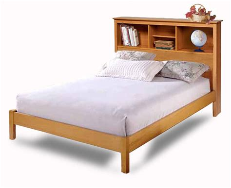 twin  full bookcase headboard bed furniture woodworking