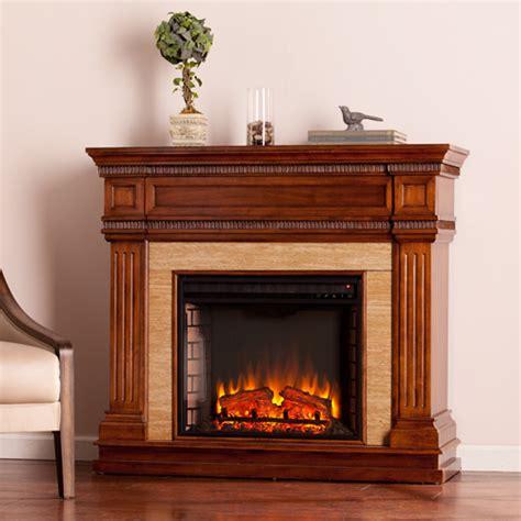 fireplace looks 45 5 quot faircrest look electric fireplace oak saddle