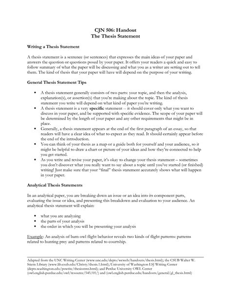 Thesis Paper by Exles Of Thesis Statements