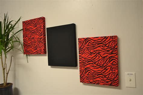 Red Zebra Wall Decor Canvas Wall Hangings Black By Madmosaics Wall Fabric Decor