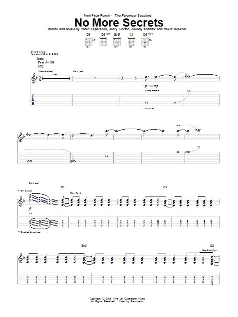 secret guitar tab no more secrets by papa roach guitar tab guitar instructor
