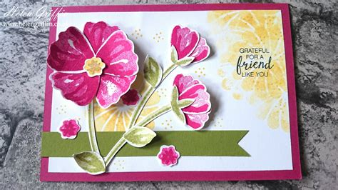 Home Design Challenge stampin up bunch of blossoms card helen griffin uk 3