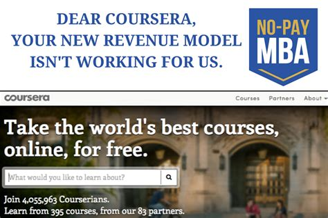 Course Free For Mba by An Open Letter To Coursera No Pay Mba