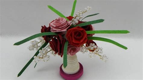 quilling miniatures tutorial how to make a 3d miniature quilling flower bouquet