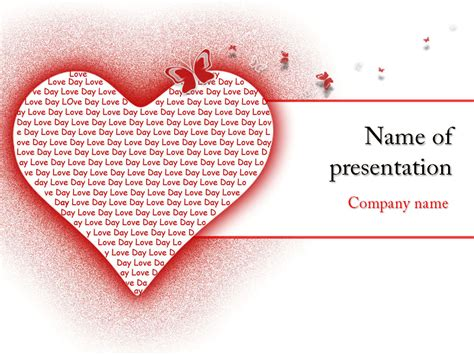 ppt themes love download free love heart powerpoint template for