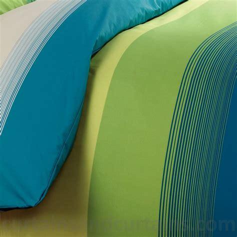 Blue Green Duvet Cover Studio Lime Green Teal Striped Print Duvet Cover Studios