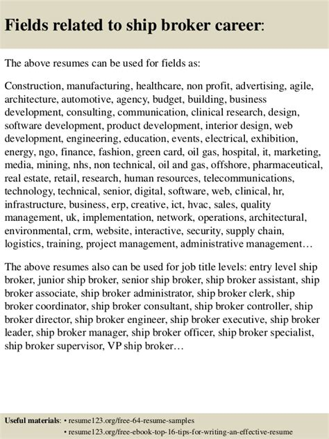 Bim Coordinator Cover Letter by Top 8 Ship Broker Resume Sles
