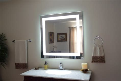 Light Bathroom Mirror Admirable Wall Mirror With Lights Ideas Decofurnish