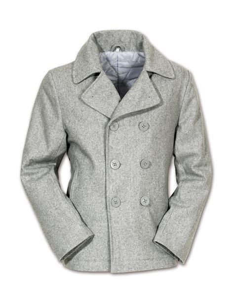 light grey peacoat mens light grey wool melton pea coat reefer jacket