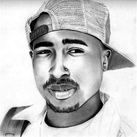 Drawing 2pac by Tupac Shakur Poetic Justice Biggie Tupac