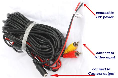 how to connect wires wireless car backup color monitor rv truck trailer