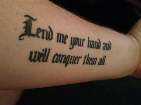 hot tattoo com cool black lettered quote tattoo for men on forearm
