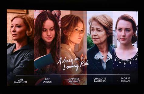 best actress nominees list oscars 2016 nominations the complete list entertainment