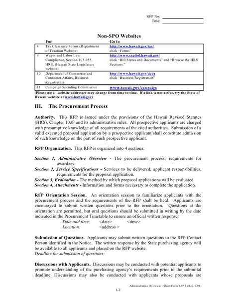 rfp questions template rfp template form 1