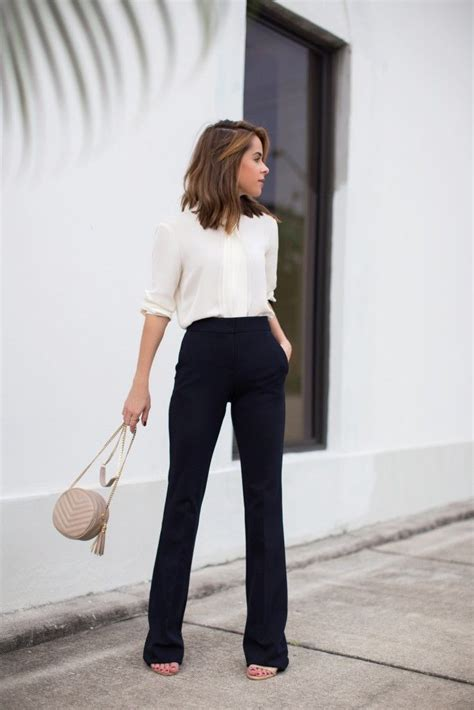 chic work outfits  wear  fall spring work