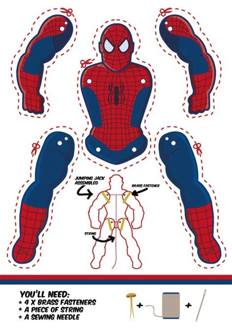 spider man as a jumping jack dowload template free