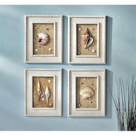 seashell decor bathroom seashell framed wall decor seashell decor pinterest