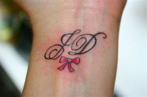 monogram tattoo 49 initials wrist tattoos