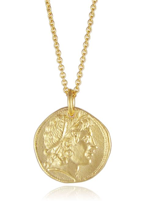 Coins Necklace demeter coin necklace gold silver gold plated pendants