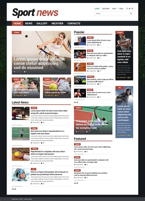 joomla templates for news website sports news responsive joomla template 53529