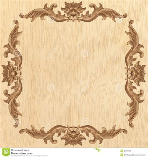 pattern of wood frame carved flower carved frame stock photo image 39133060