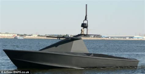 Drone Buat the stealth drone boat set to hunt for and go undercover around the world daily mail