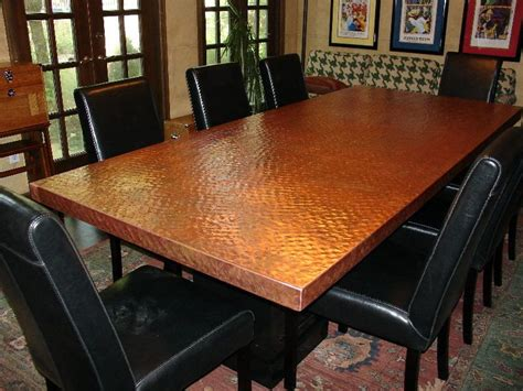 copper dining table copper top dining room table http diynetwork com