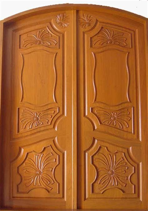 wooden door design latest kerala model wooden double doors designs gallery