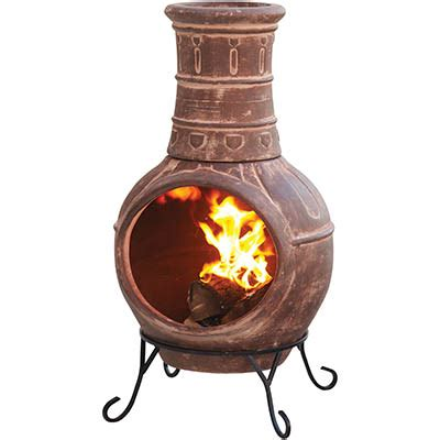 clay chiminea home depot terracotta outdoor fireplace enclosed outdoor