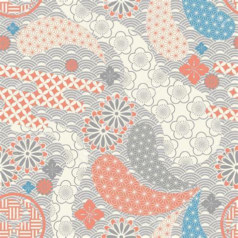 kimono repeat pattern japanese kimono stock vector illustration and royalty free